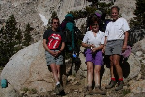 Jud, Rose & Andre in Rattlesnake Canyon