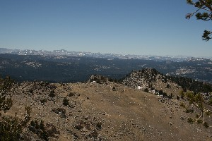 Looking back down the Sawtooth trail