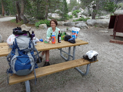 Nothing like a Beer, Chips & Dip at the trail head.