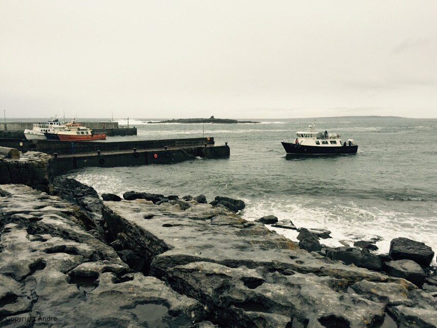 Aran Island ferry at Doolin pier.