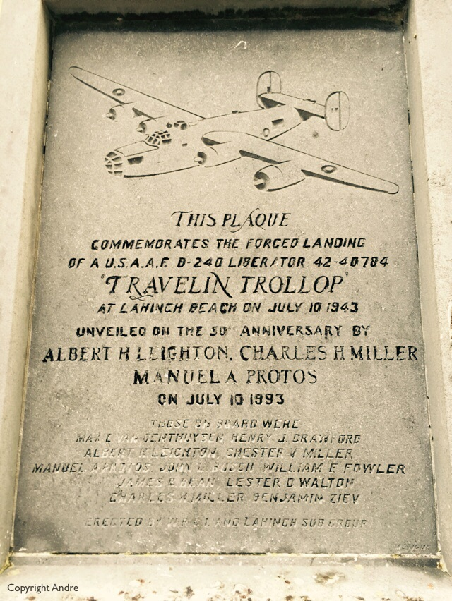 Reminding us that an American B52, Travelin Trollop, made an emergency landing here in 1943.