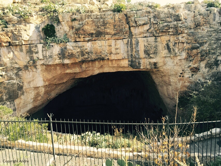 A gaping hole -must be a cave!