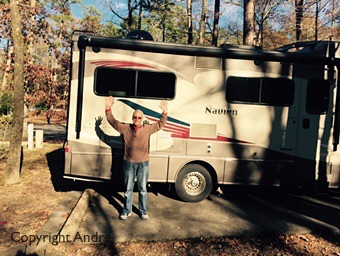 Dropping off the RV in Gulpa Campground
