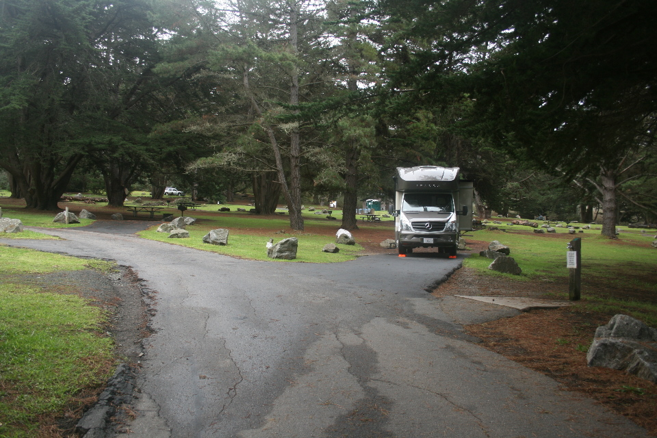 Our spot in the beautifully deserted campground.