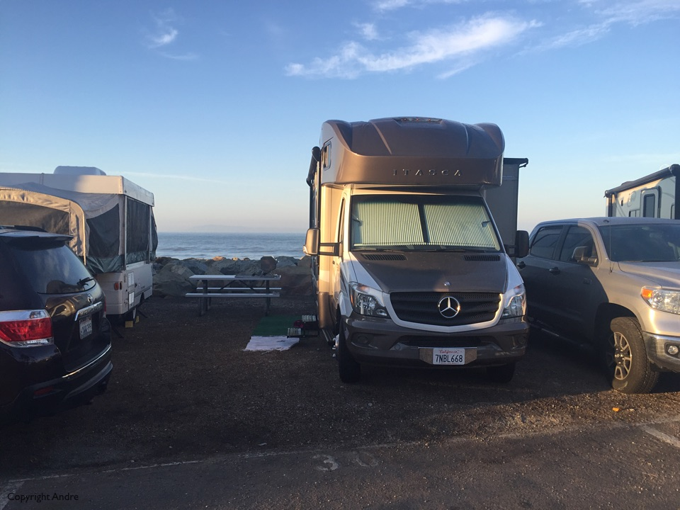 Our spot at Faria campground.
