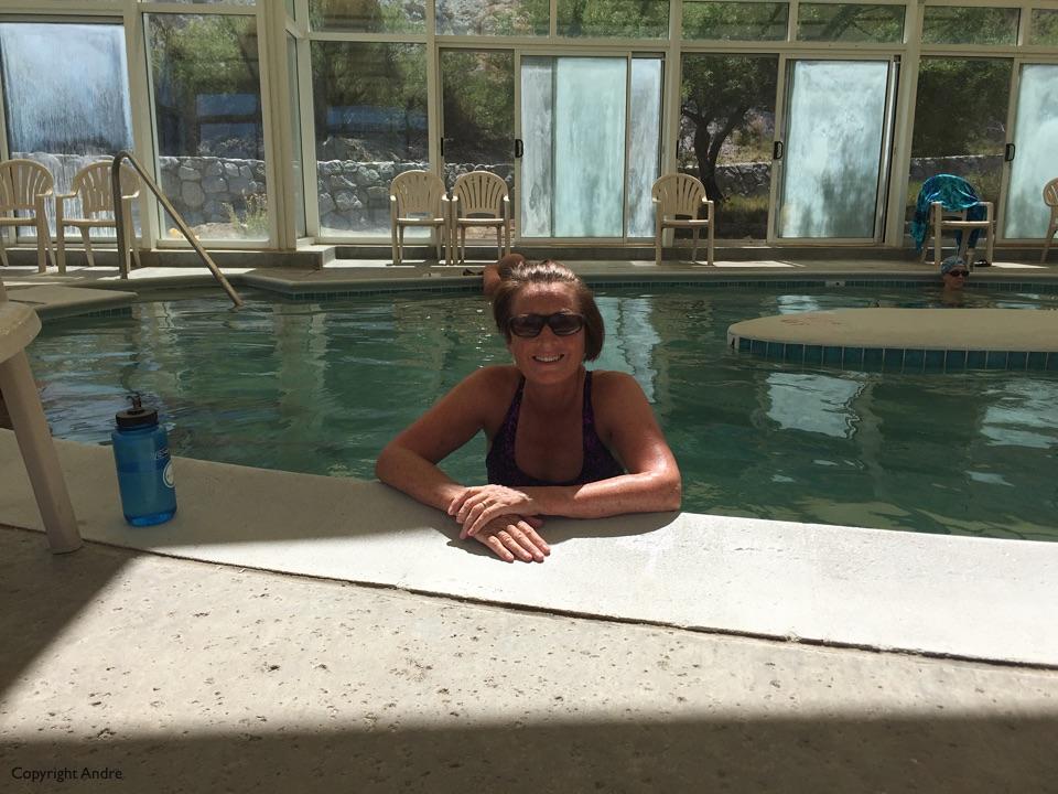 Inside hotter pool.