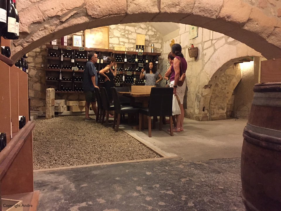 Wine cellar tour.
