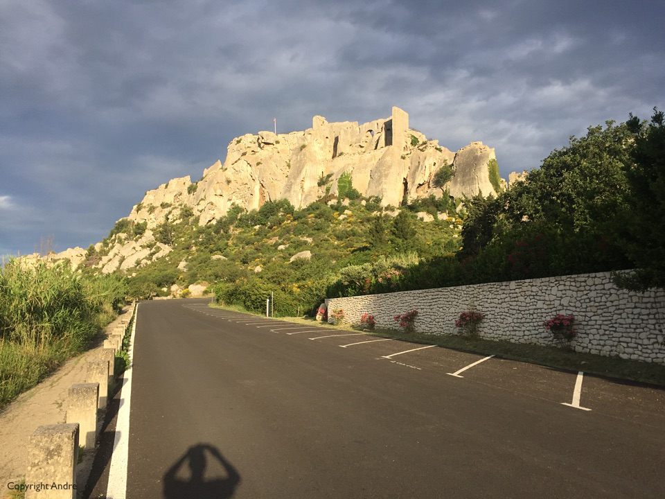 Morning light on the walls of Les Baux.