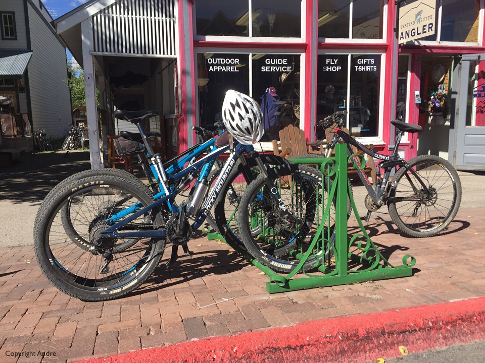 Bikes all over the place.