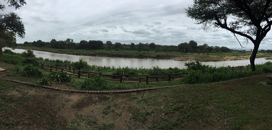 Had a view out over the Sabi river.