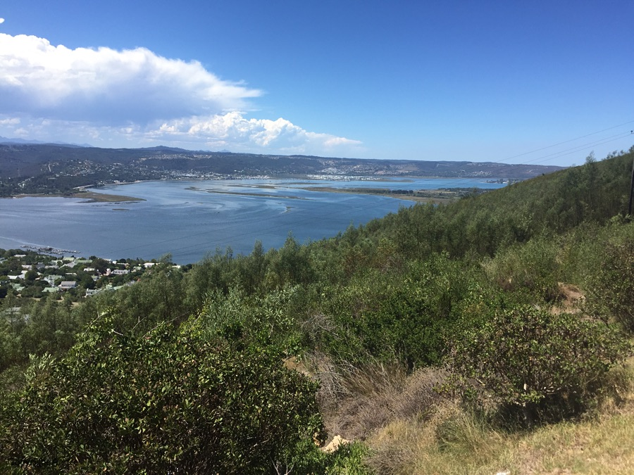 View over to the town of Knysna.