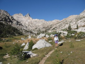 Upper Lost Canyon and The Sawtooth Pass to the Right