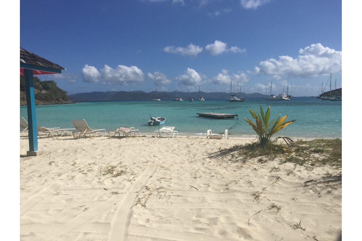 Facing the bay a classic BVI anchorage.