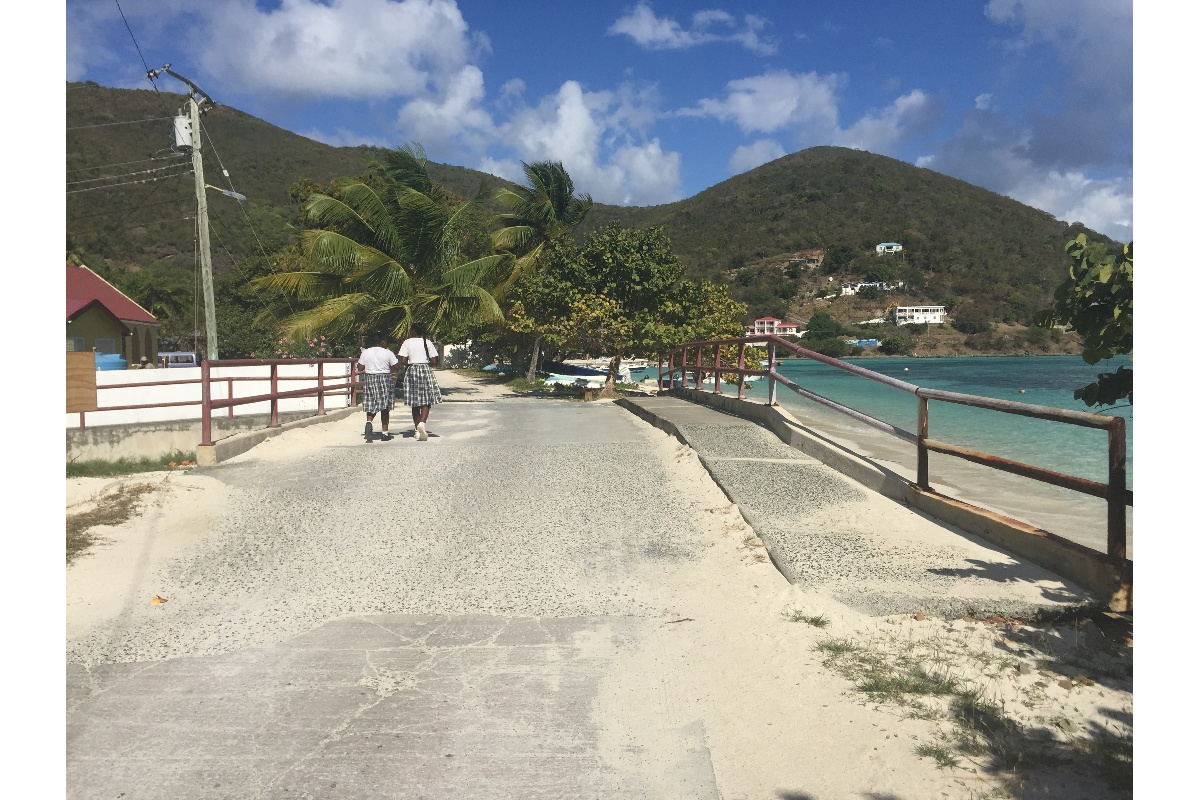 """Not often you see school girls in uniform. Greeted me with a polite """"Good Afternoon"""" - must be the British in BVI."""