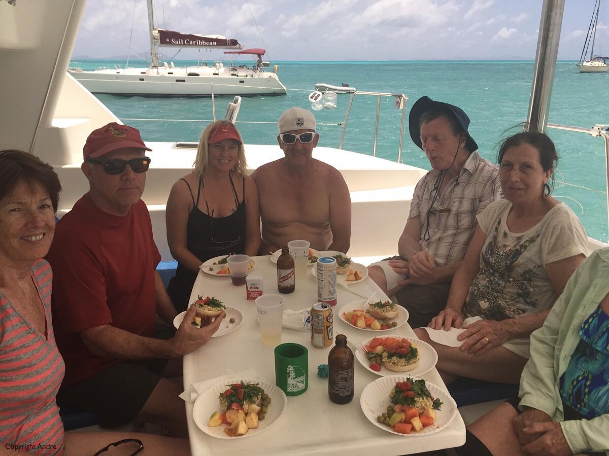 Lunch aboard.