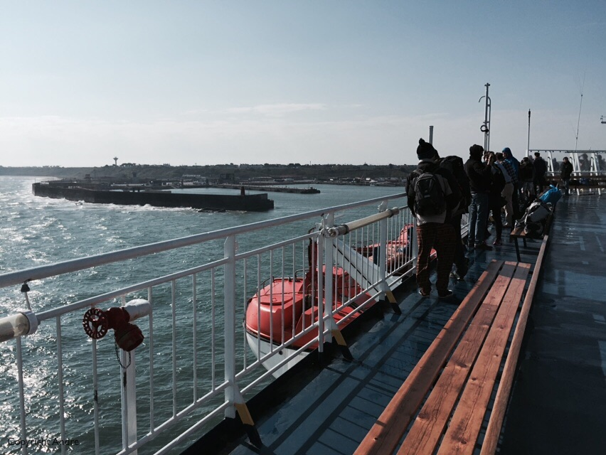 Entering Rosslare harbor right on schedule.