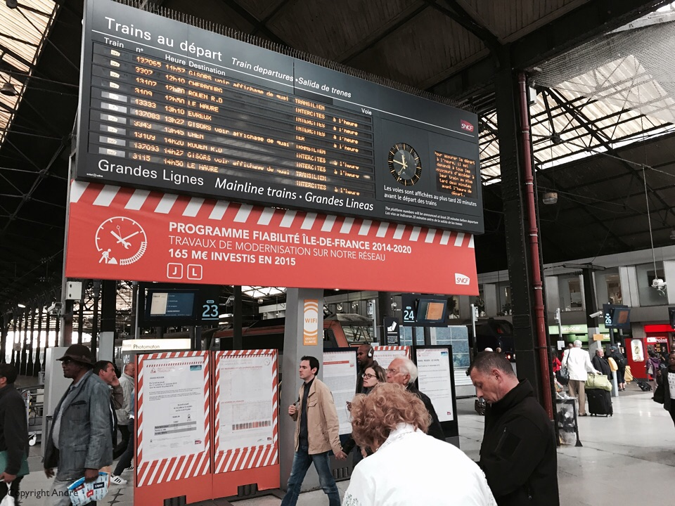 Inter City departures at Gare St. Lazare.