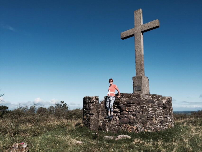 Memorial cross at the summit.