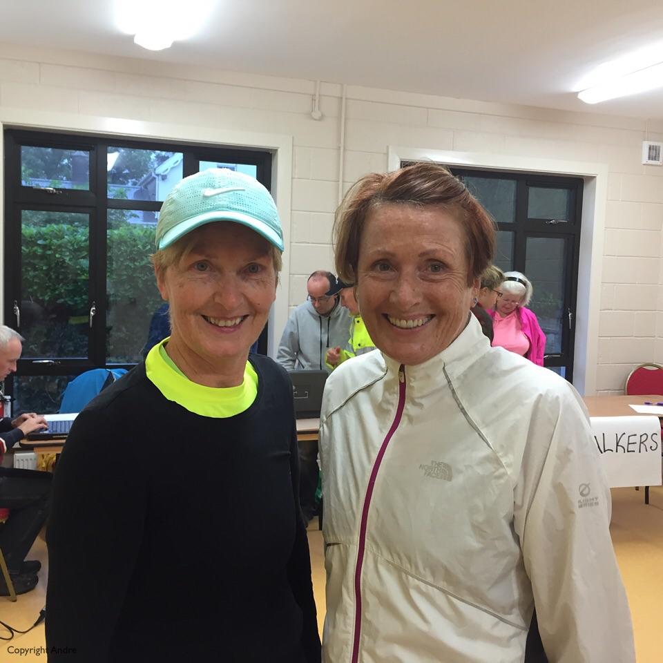 Kathleen & Rose before the start.