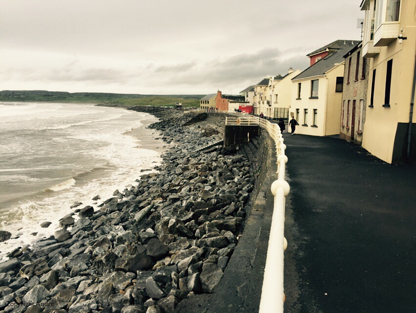 "Lahinch's ""malecon"" - only for the hardy souls."