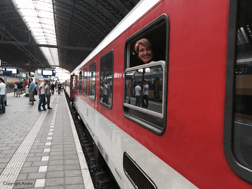 Our Deutsch Bahn train to Basel.