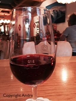 A precise 100ml Swiss glass of wine.