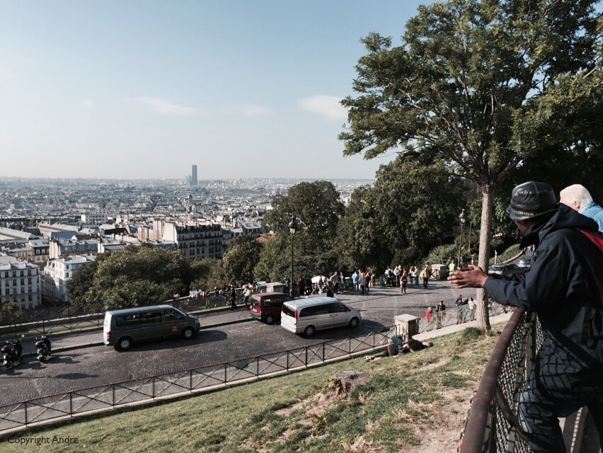 Yes, this is the highest point, the Eiffel Tower is out of sight off the the right.