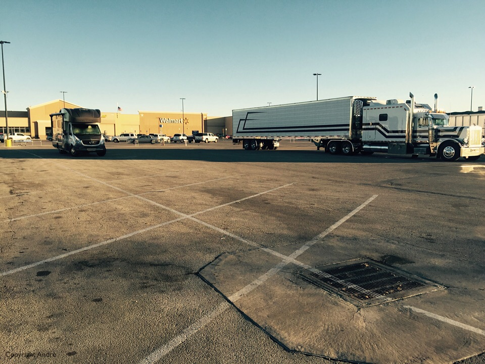 Walmart parking lot in Abilene.