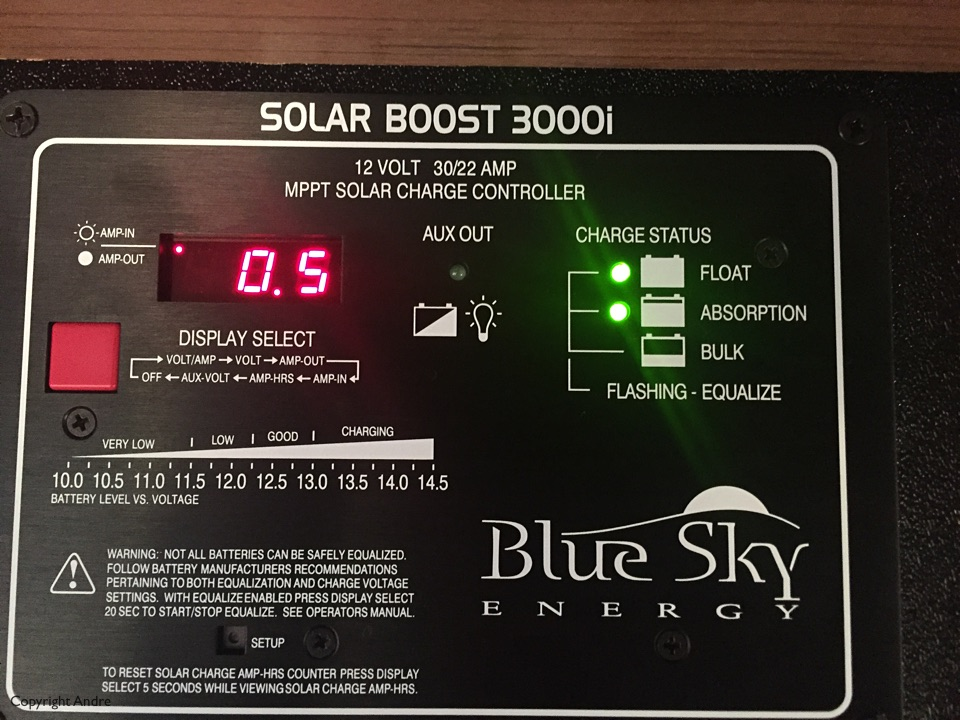 Our new solar controller.