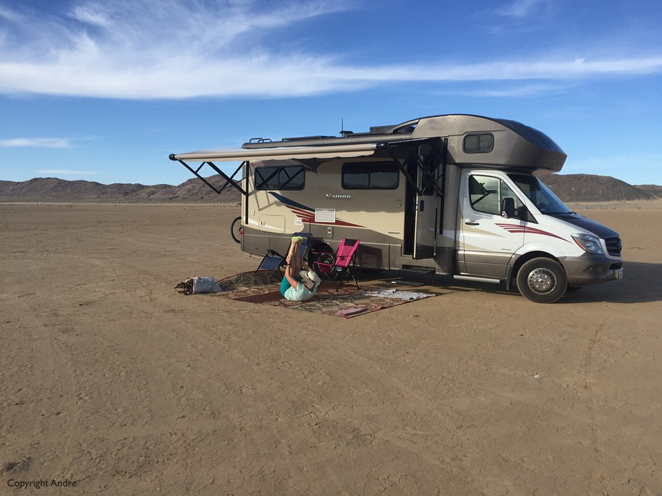 Our spot on the dried mud flats.