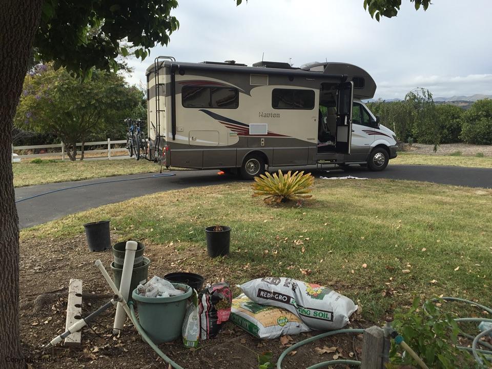 Driveway camping in Arroyo Grande.