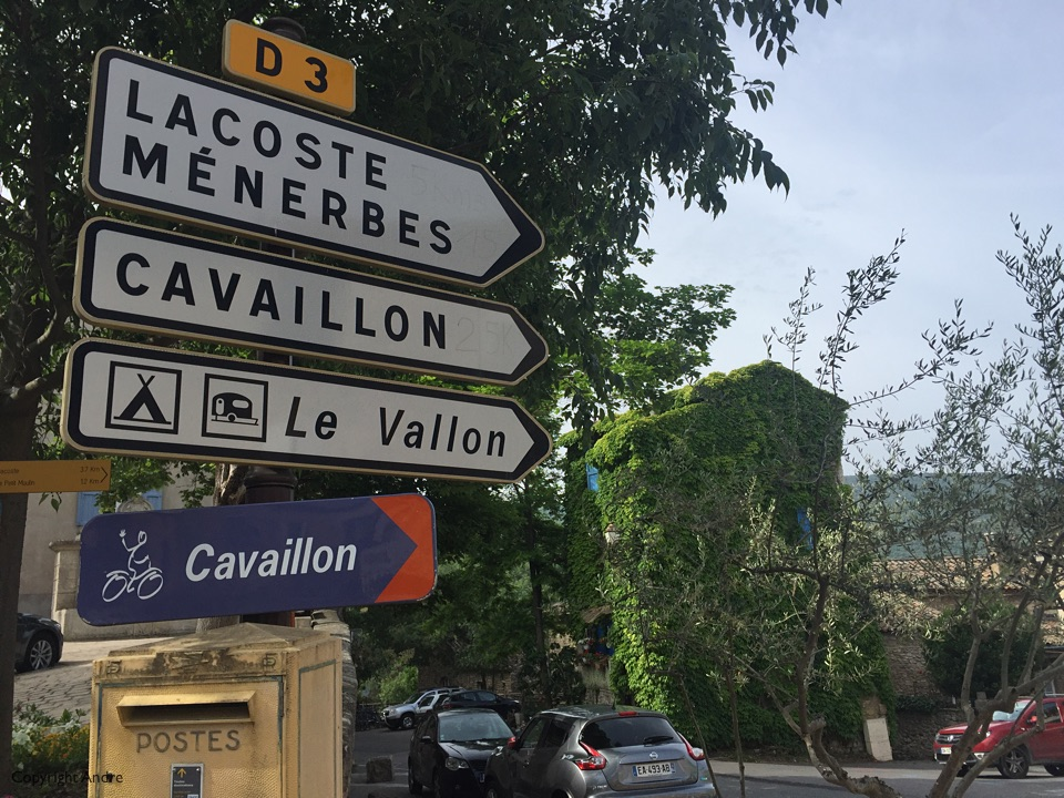 Cavaillon bike route.