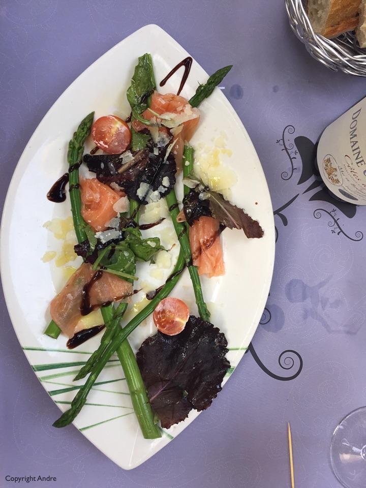 Asparagus & Salmon.