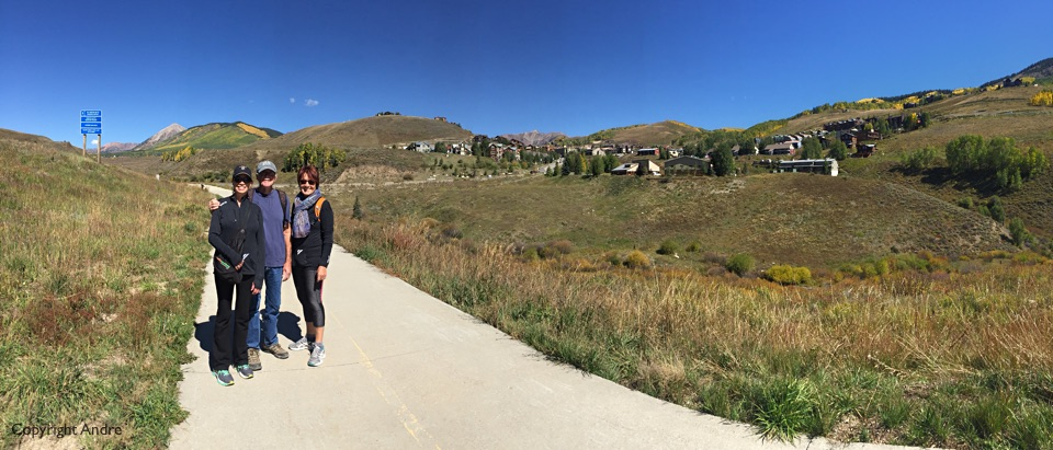 Down the bike path from Mt Crested Butte to downtown.