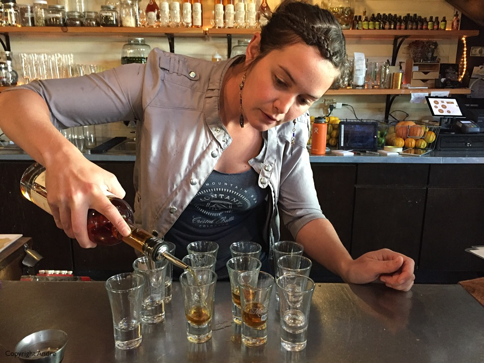 Rum tasting at Montanya.