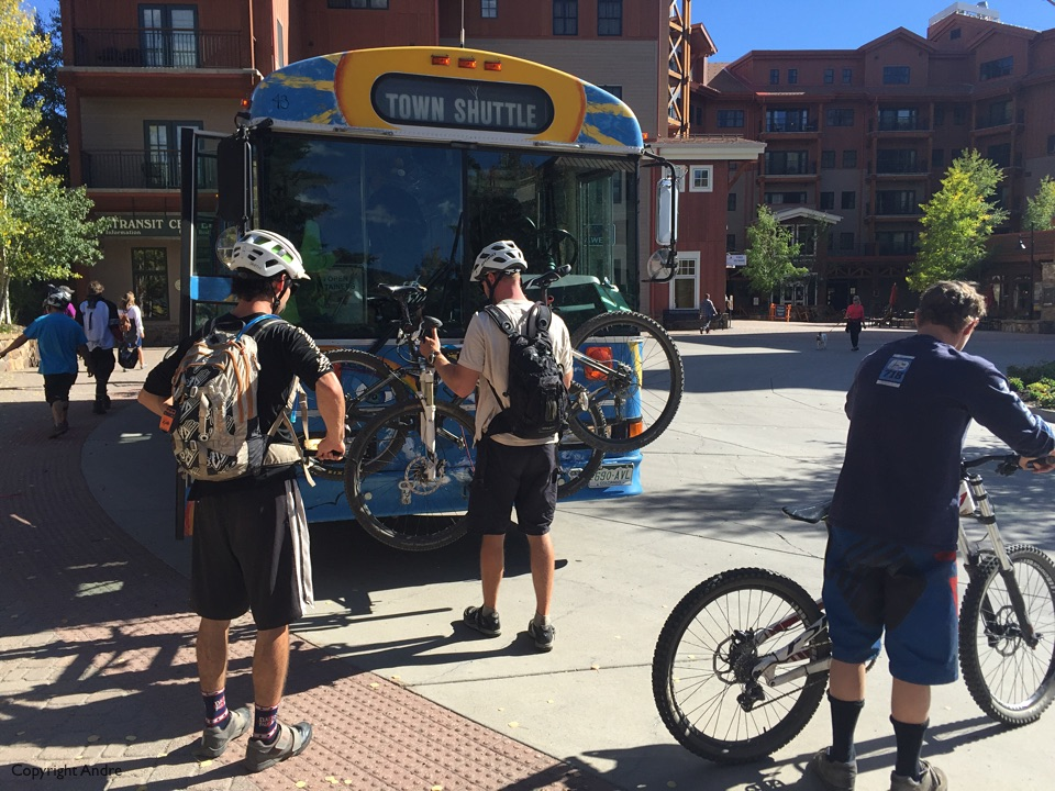 Free bus shuttle up to Mt Crested Butte.