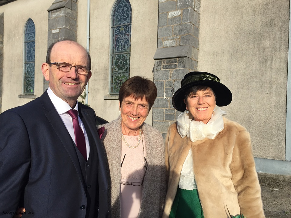 Father of the groom, James, with sisters Mary & Breda.