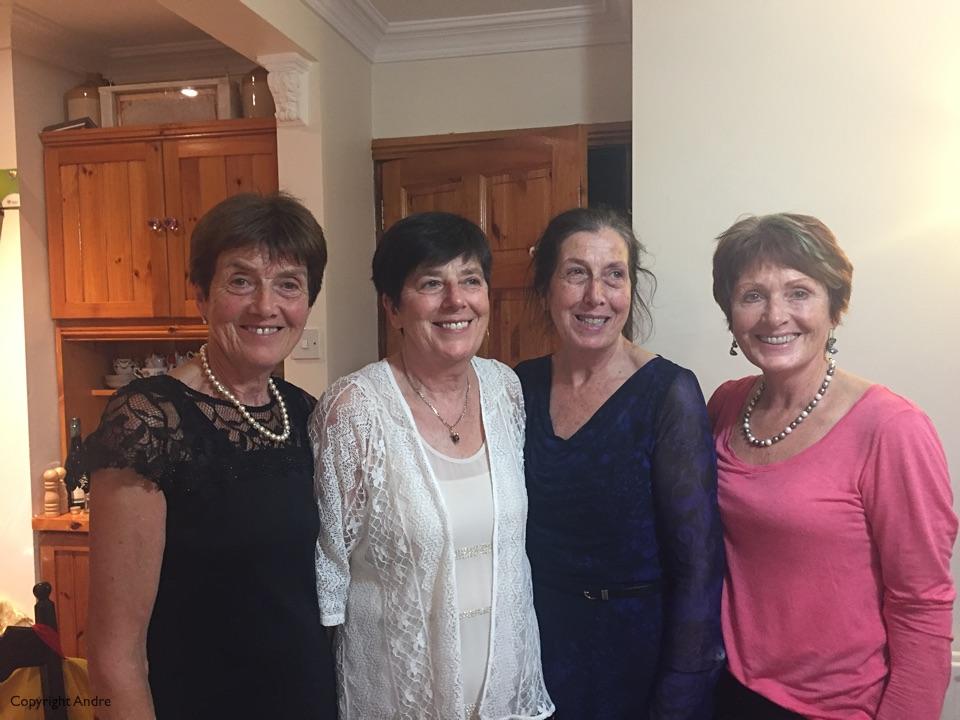 Christmas day sisters Mary, Breda, Patricia & Rose.