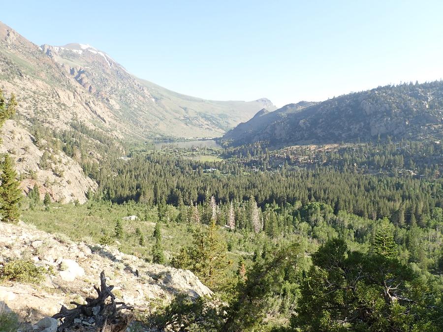 Looking down towards Grant Lake.